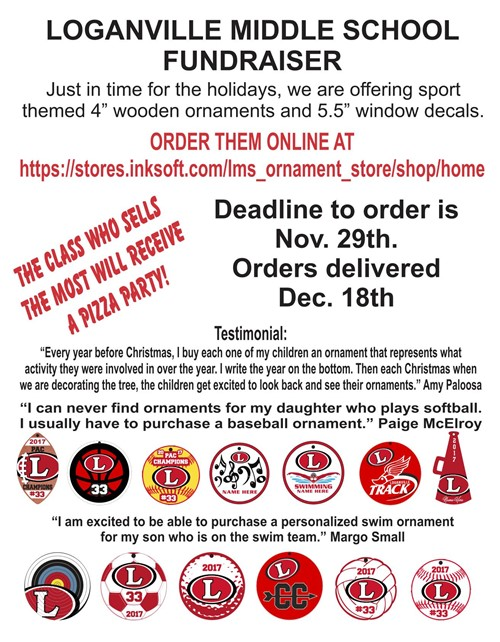 Support the LMS PTO and get festive with a unique LMS ornament!