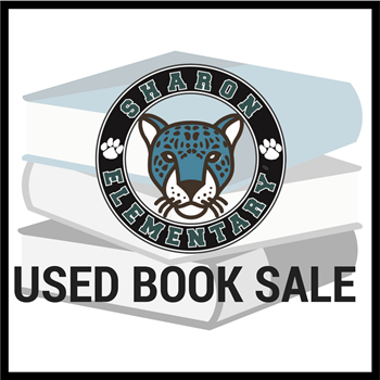 Sharon Elementary logo and used book sale