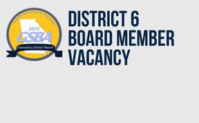 Board of Education - District 6 Vacancy