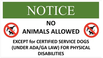 No animals allowed on campus