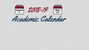 Final 2018-19 Academic Calendar