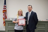 LMS Softball Player with Superintendent