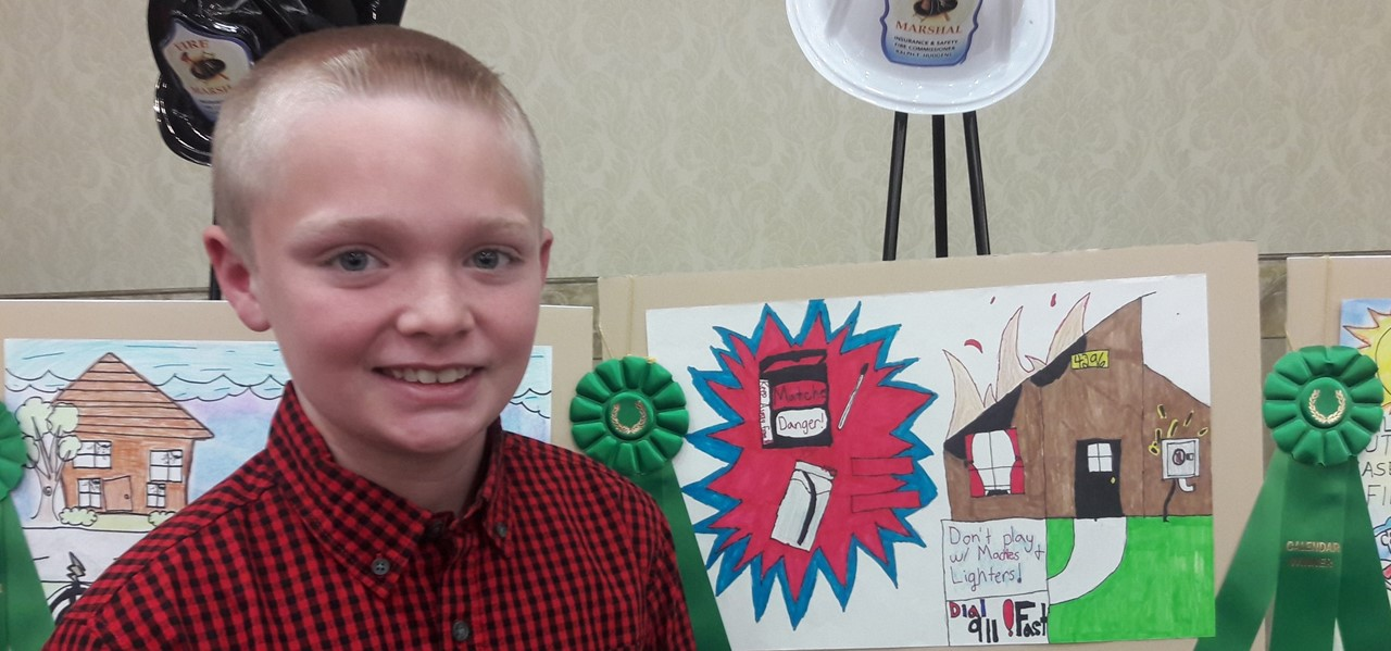 student wins state fire safety contest