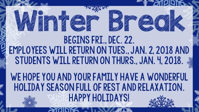 Winter Break 17-18