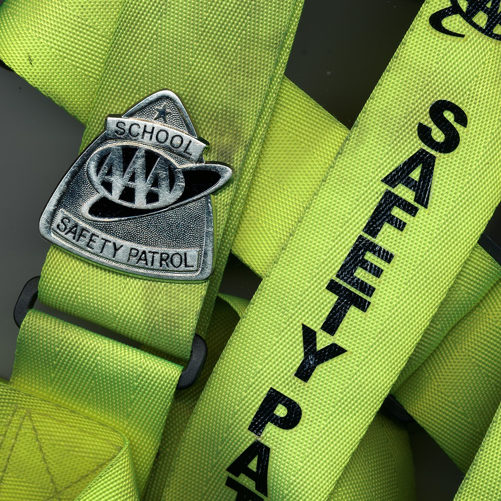 Safety patrol badge.