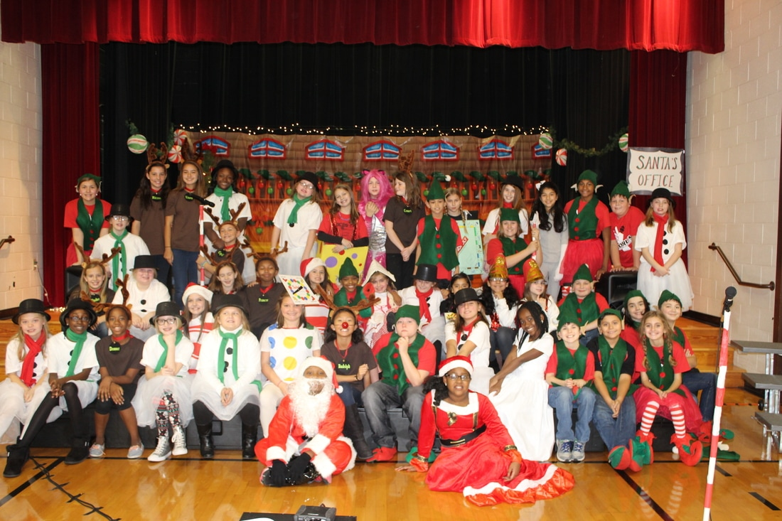 Chorus group shot after Christmas performance.