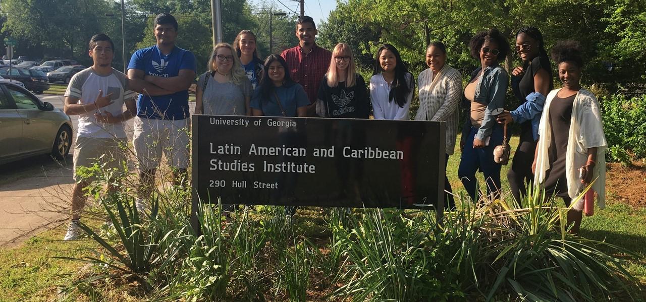 LHS students visiting UGA.
