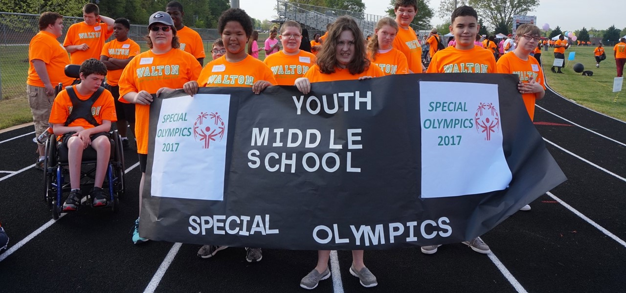 Youth Middle School's Special Olympics participants.