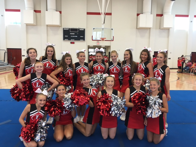 LMS Cheerleaders at a Pep Rally
