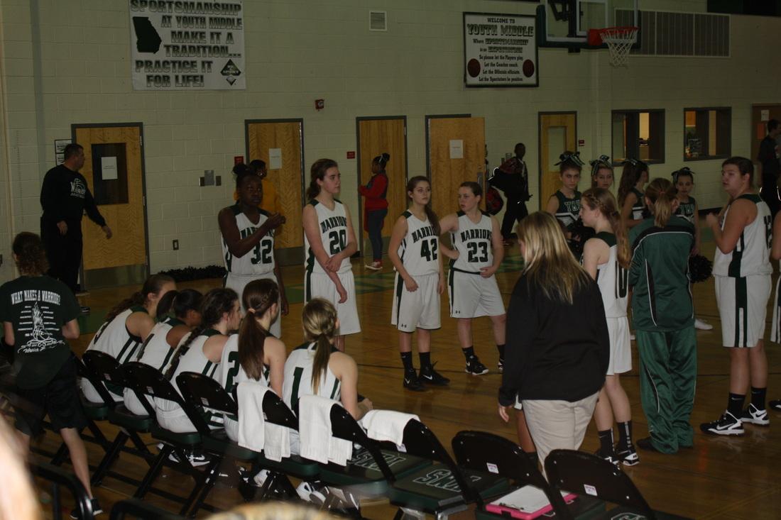 Girls basketball team.