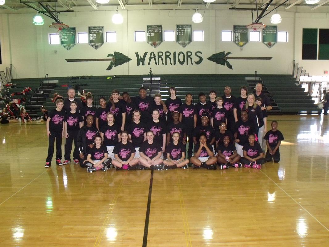 Girls and Boys basketball team.
