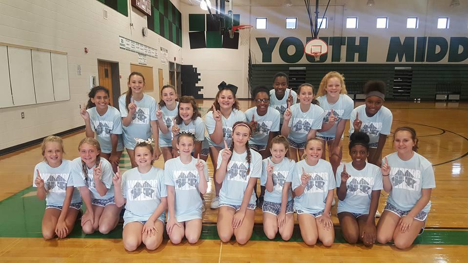 YMS Cheerleaders at Camp