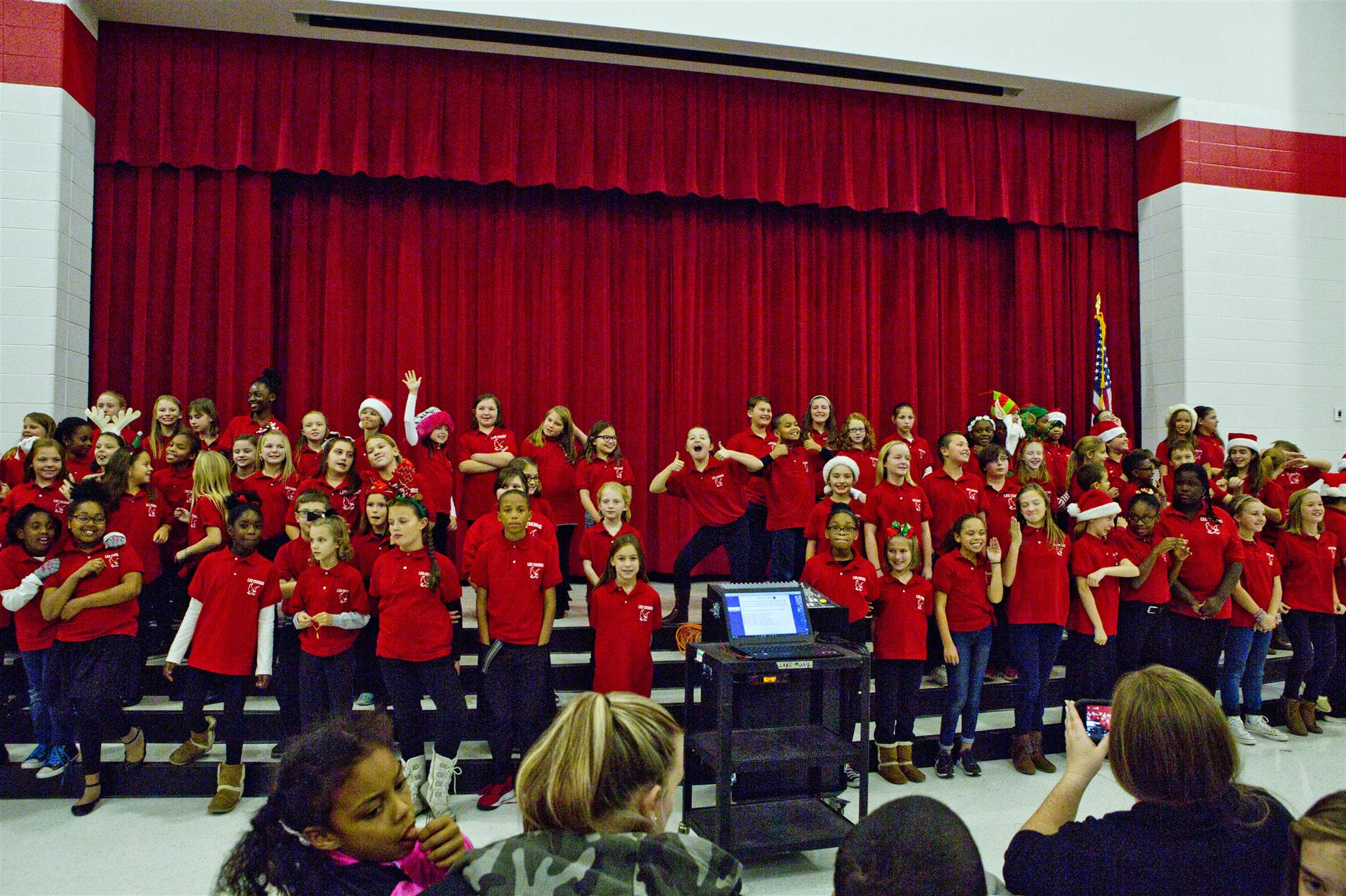 Chorus students performing