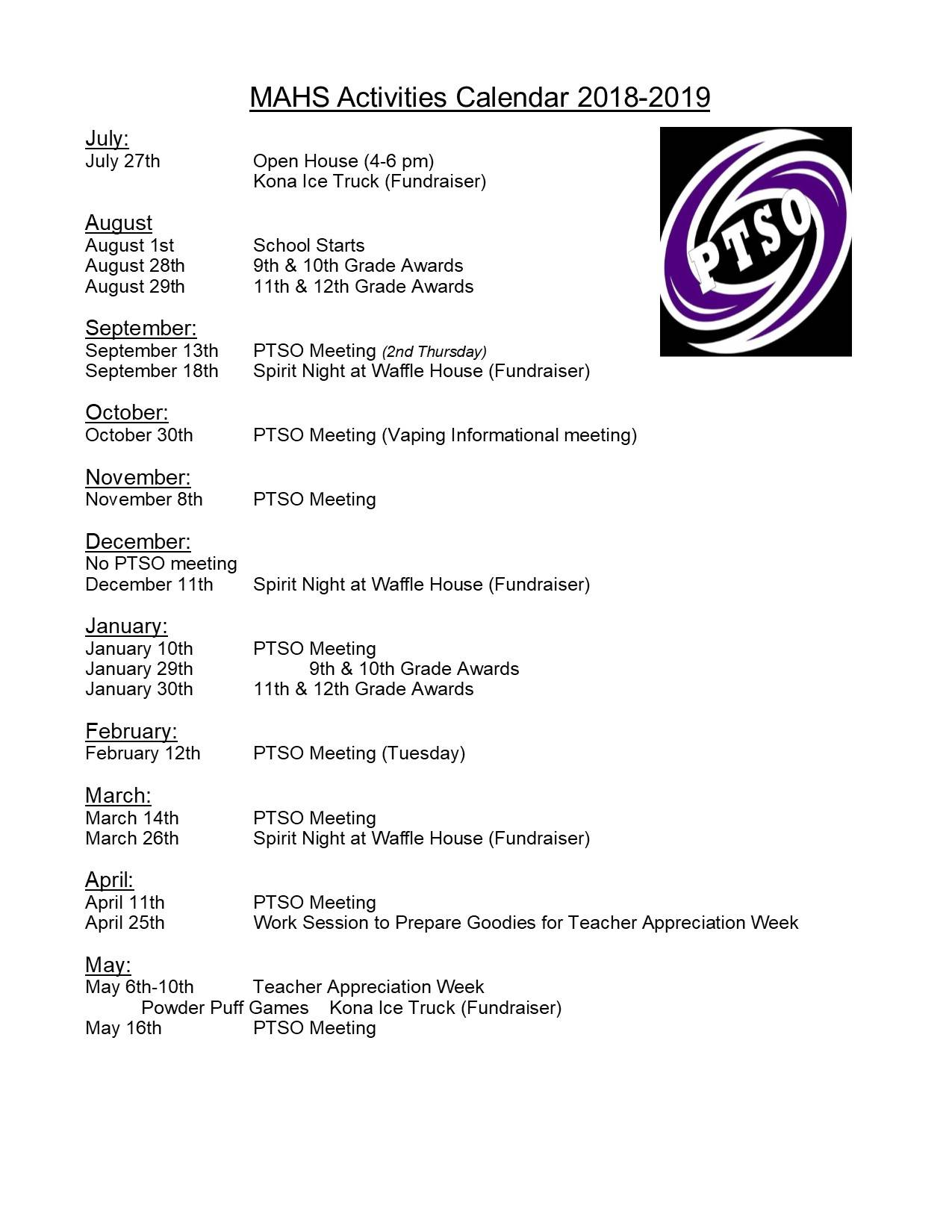 2018-19 Events
