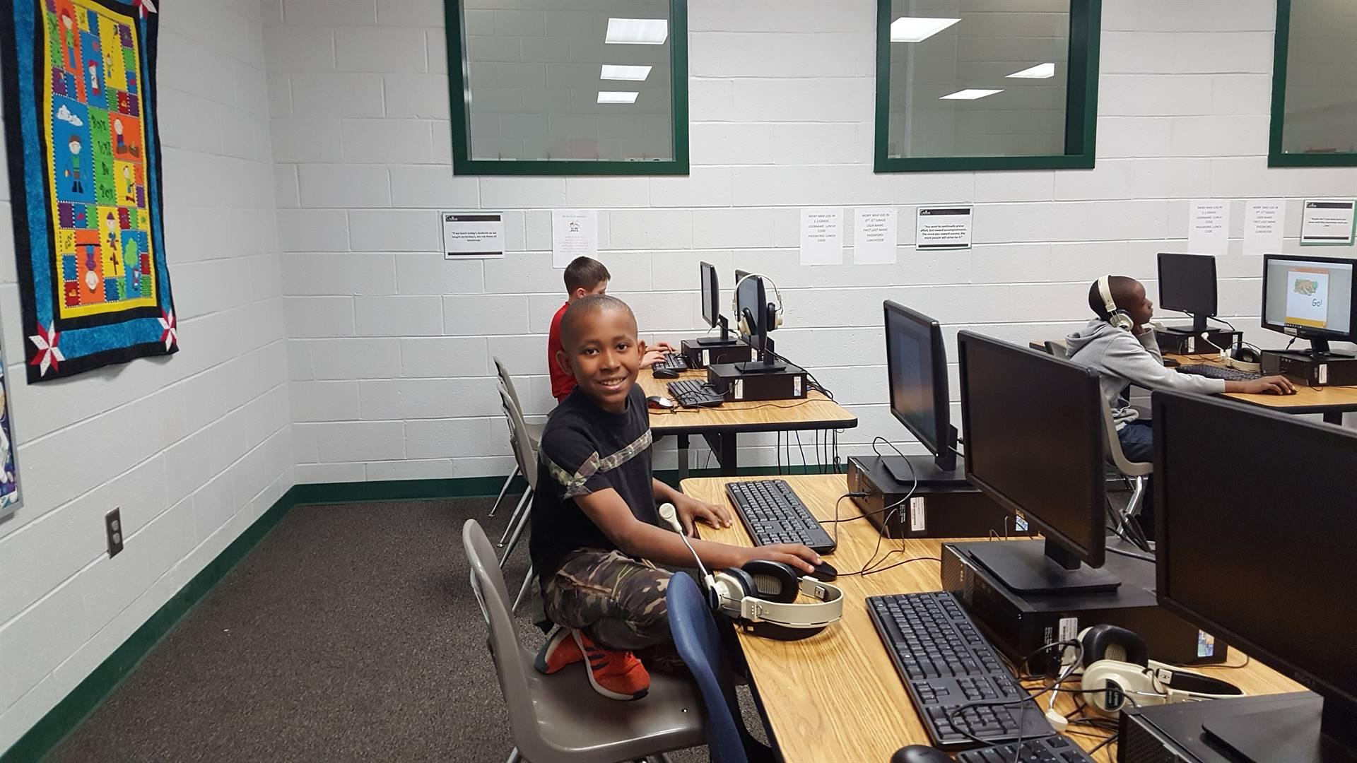 Having fun in Computer lab