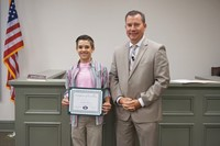 YMS Student with Dr. Franklin