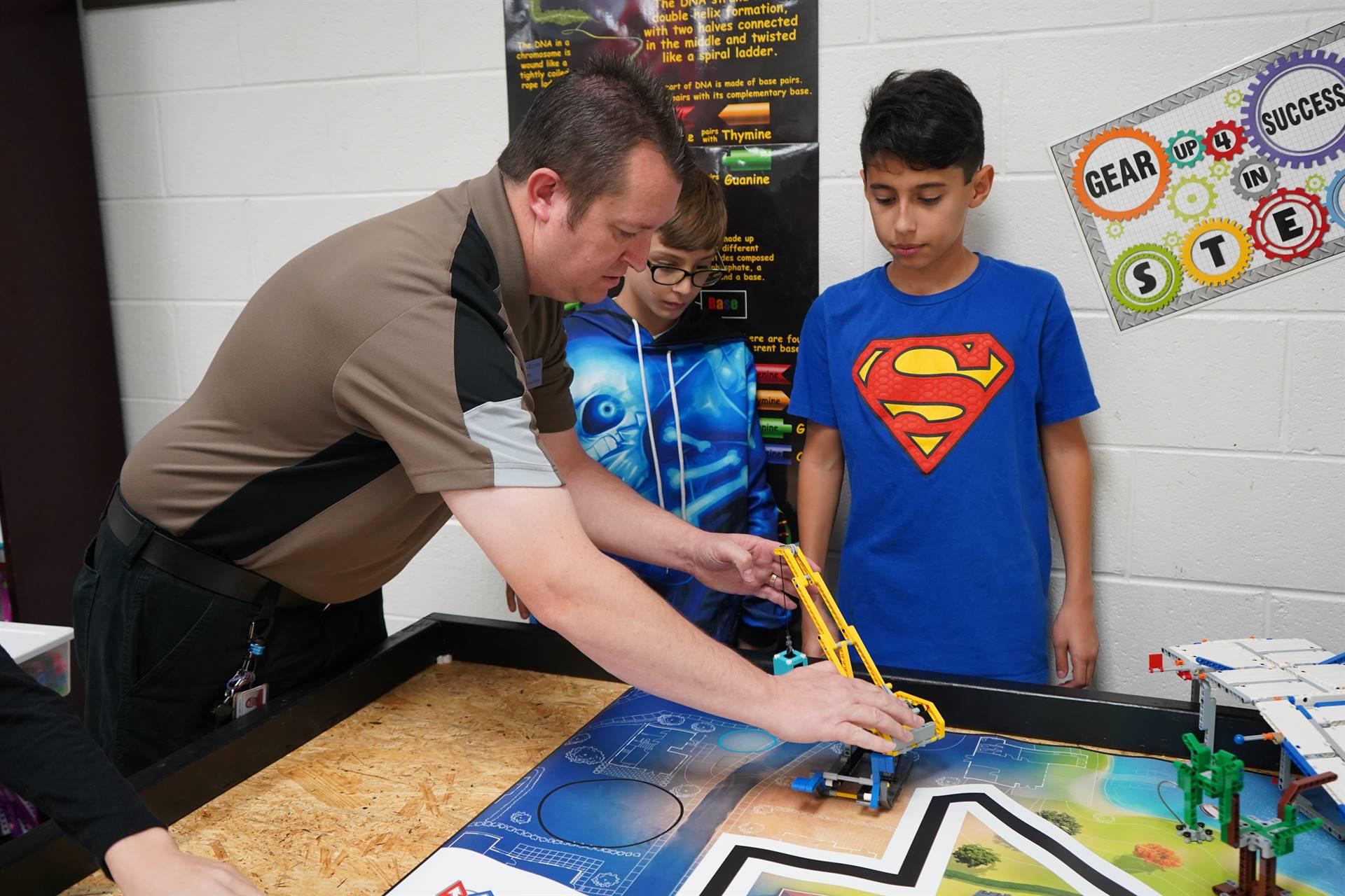 Robotics Students and Teacher