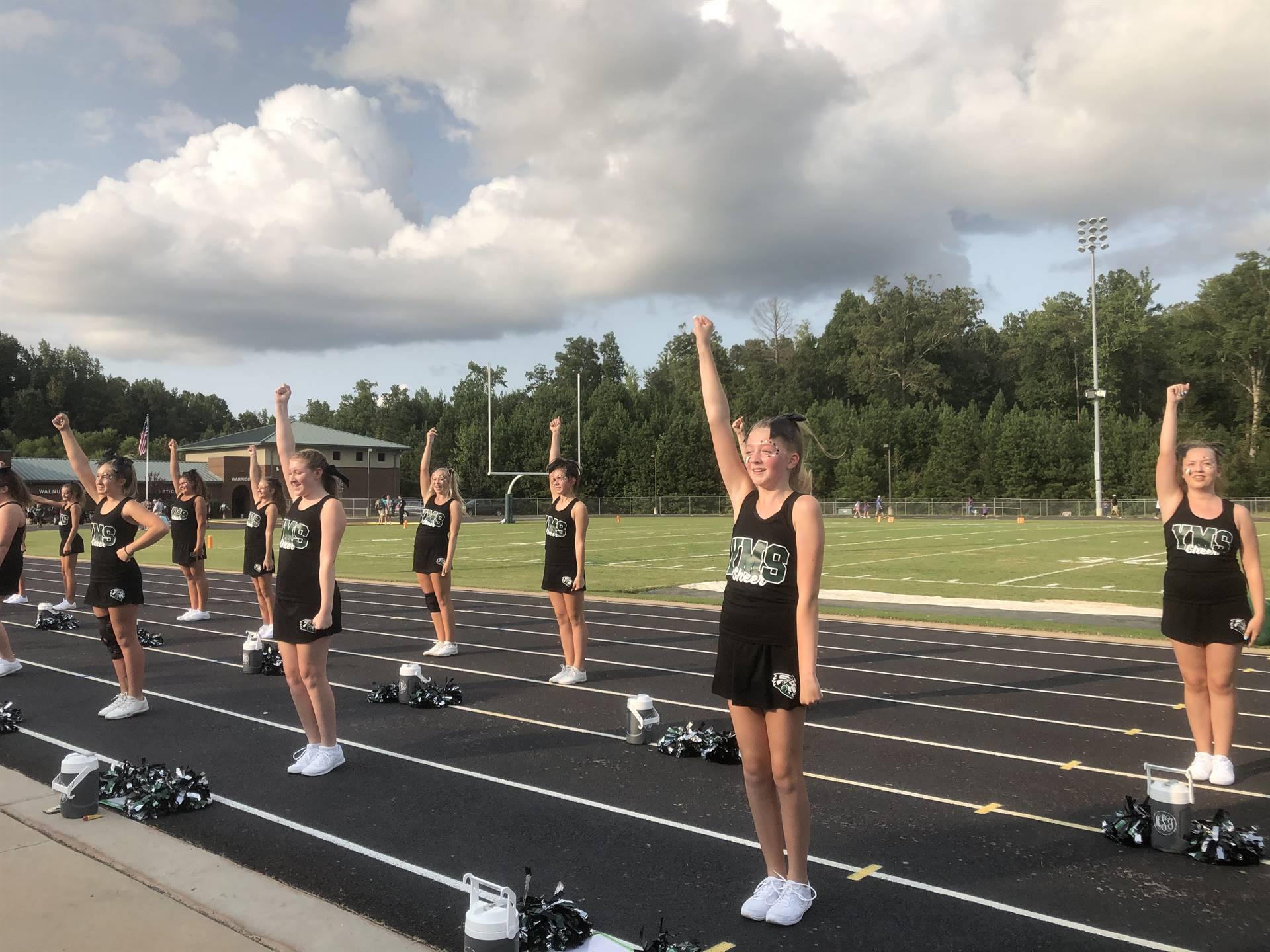 Cheering at Monticello game
