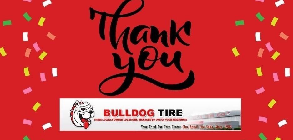 bulldog tire thank you