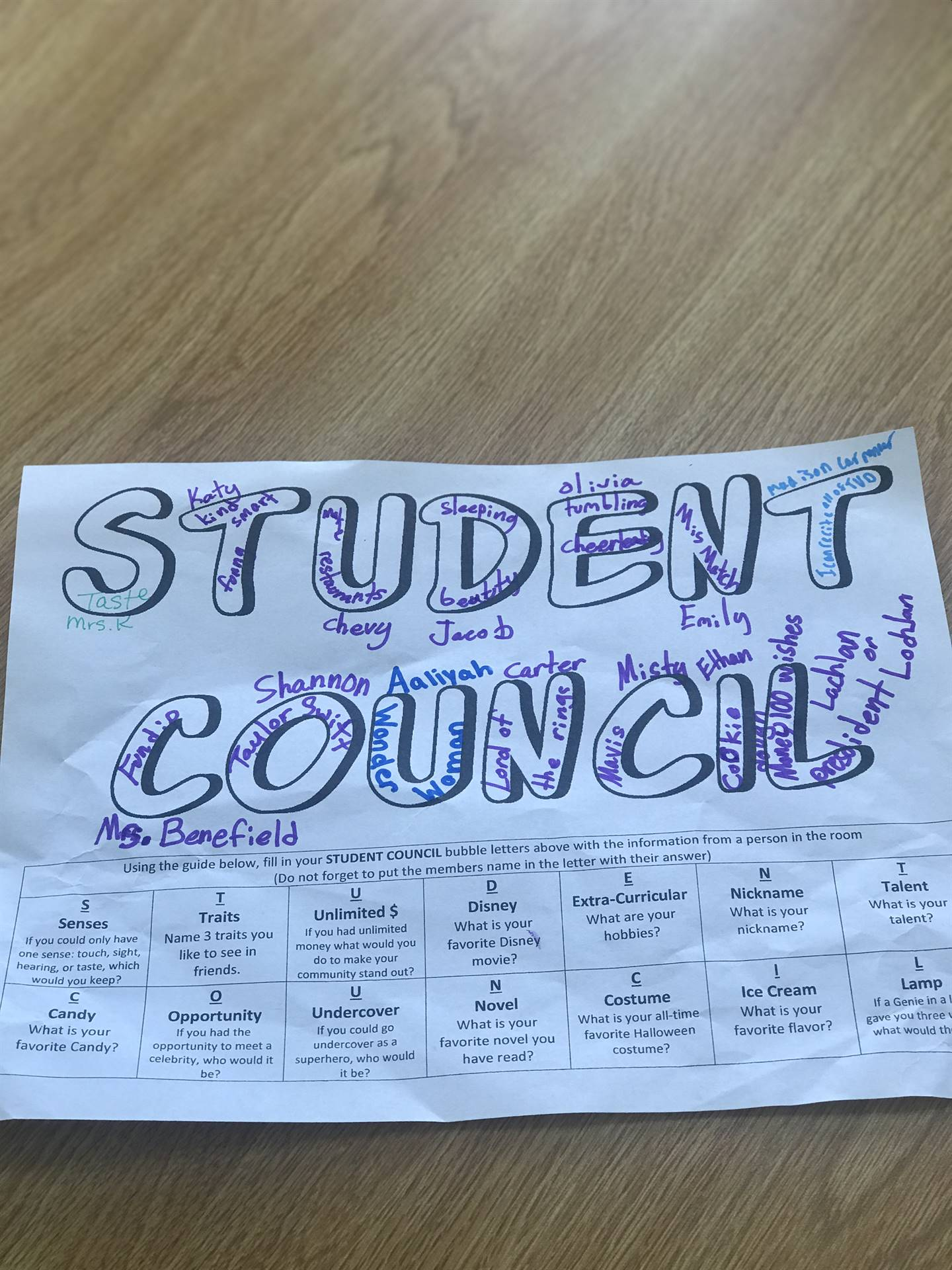 First Student Council meeting