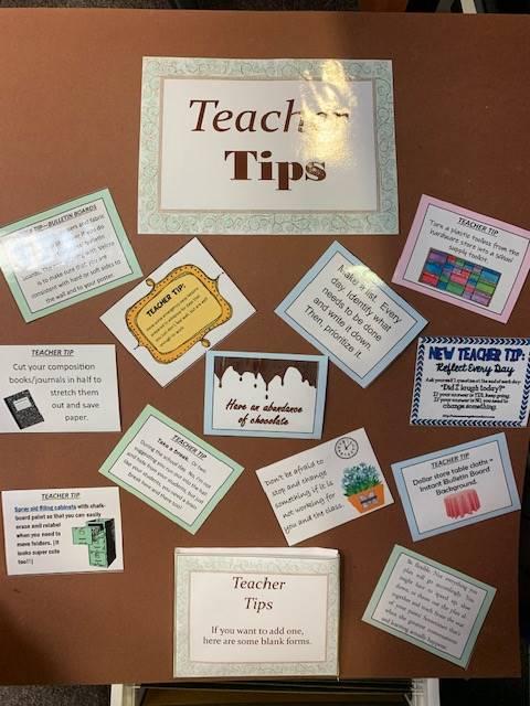 Blue Teacher Breakroom Board