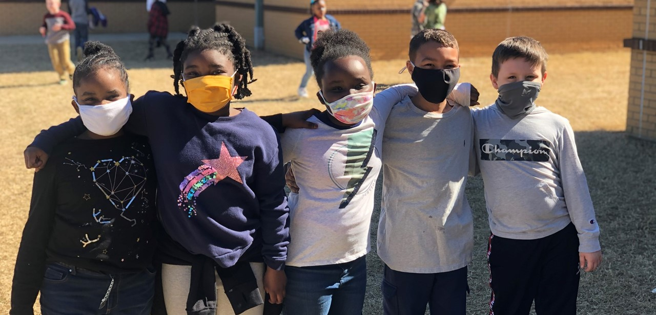 Students in mask